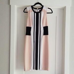 BCBGMAXAZRIA Colorblock Dress SZ 4